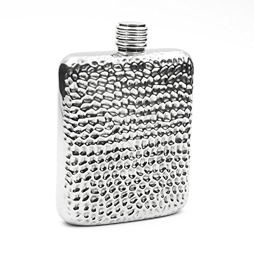 Savage 6oz Hip Flask 18/8 Stainless Steel with Engraved Golf Pattern by Savage