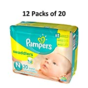 Pampers Swaddlers Disposable Diapers, Size Newborn, 240 Count