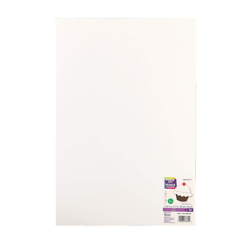 Darice 1022-71 Foamie Roll 36x60 White