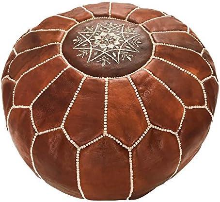 moroccan poufs leather luxury ottomans footstools silver unstuffed