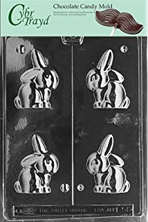 Cybrtrayd Life of the Party E190 Flop Earred Buck Tooth Easter Chocolate Candy Mold in Sealed Protective Poly Bag Imprinted with Copyrighted Cybrtrayd Molding Instructions