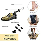 Halcent 1 Paire Embauchoirs Plastique avec Métal Arbre de Chaussure avec Chausse-Pied Embauchoir Homme Femme 8