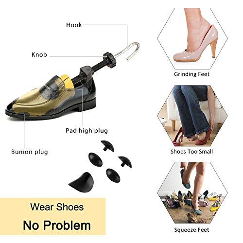 Halcent 1 Paire Embauchoirs Plastique avec Métal Arbre de Chaussure avec Chausse-Pied Embauchoir Homme Femme 2