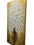 Desihum-Canvas Wall Art Vertical White Flower