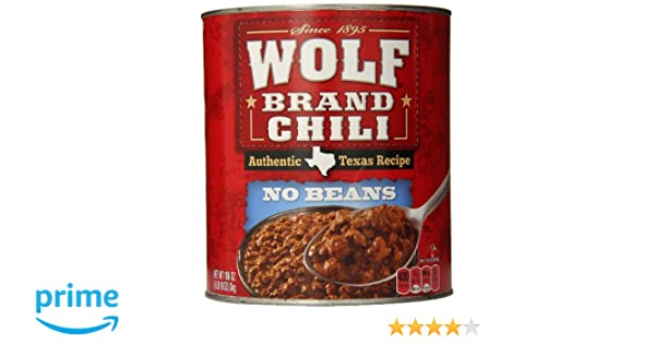 6f686e6cf Amazon.com : Wolf Brand No Beans Chili, 106 Ounce : Gravies : Grocery &  Gourmet Food