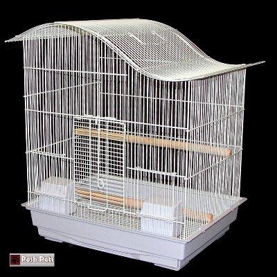 Blanco Suizo Cottage Jaula de Pájaros Budgie Canario Lovebirds ...