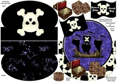 Have a Jolly buen día - pirata, sin agujero, Rocker Tarjeta ...