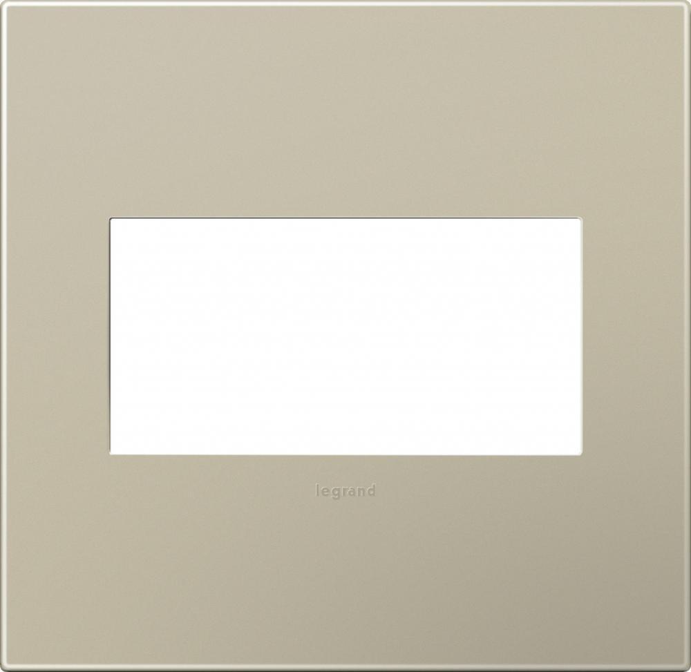 Adorne Snap-On Titanium 2-Gang Wall Plate