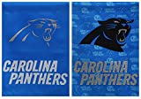 NFL Carolina Panthers Suede Glitter Accented Double Sided Garden Flag, Medium, Multicolored