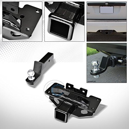S T Racing Black Finished Class 3 Trailer Hitch Loaded Ball Bumper Tow Kit 2 2004 2009 For Dodge Durango Chrysler Aspen