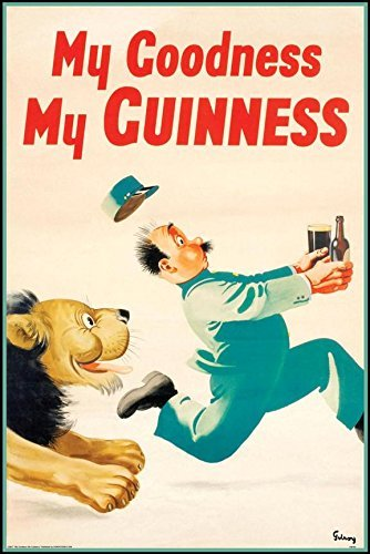 Brew Beer Art Print - Guinness Beer My Goodness My Guinness by Gilroy 36x24 Advertising Art Print Poster Irish Stout Brew