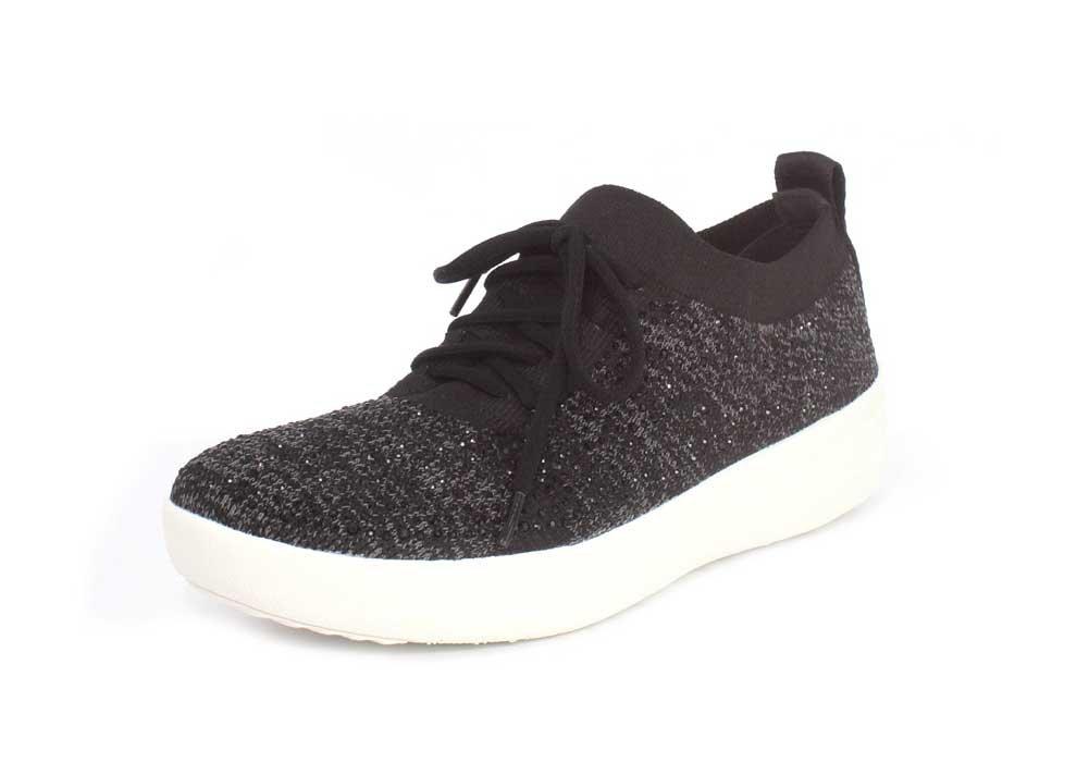 FitFlop Womens F-Sporty Uberknit Sneaker B07664FKPG 10 B(M) US|Black 1