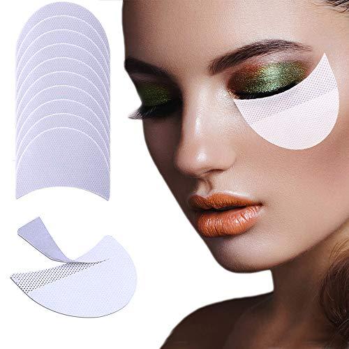 (100 Pieces Eyeshadow Shields, EBANKU Eyeshadow stencils Professional Lint Free Under Eye Eyeshadow Gel Pad Patches For Eyelash Extensions/Perming/Tinting/Lip Makeup)