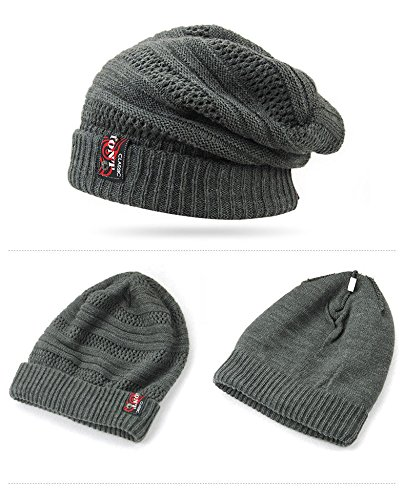 2016 New Knitted Mens Winter Hat for Men Wool Skullies Beanie Hats Bonnet  Hip Hop Warm 5ab69babac5