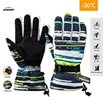 Overmont Windproof Ski Gloves Warm Mitts Mittens Gloves for Unisex, Warm Outdoor Winter Snow Gloves for Skiing Snowboarding Snowmobile Snowballs ShreddingShoveling