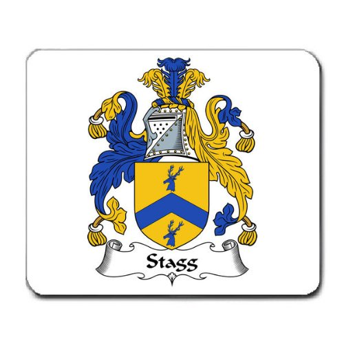 Stagg Family Crest Coat of Arms Mouse Pad