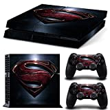 PS4 Designer Skin Decal for PlayStation 4 Console System and PS4 Wireless Dualshock Controller -Superman#7