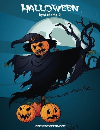 Halloween Malbuch 2 (Volume 2) (German Edition)