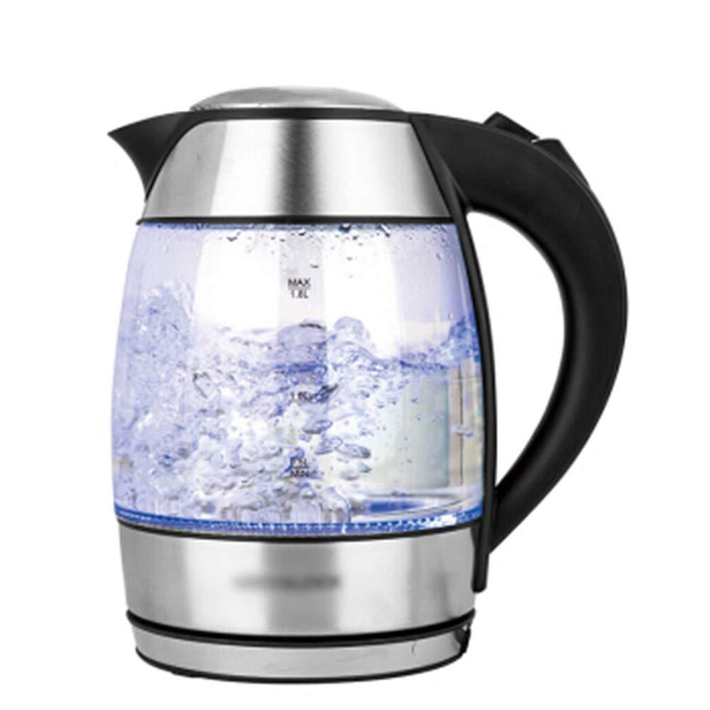 SGKJJ Glass Kettle - クイック沸騰させて、より安全で、破裂せずに、交互に熱くて冷たい1.8LブルーLED、1850W、4分間沸騰   B07PVMH36D