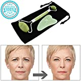 Natural Jade Roller For Face with Gua Sha