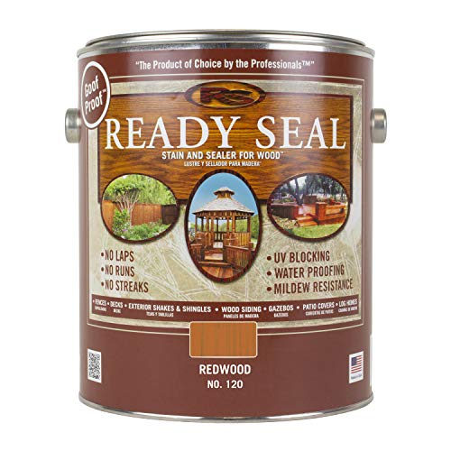 Ready Seal 120 1-Gallon Can Redwood Exterior Wood Stain and Sealer