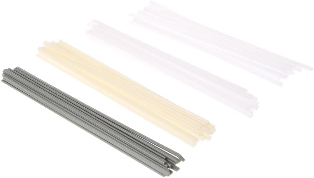 Dabixx 50pcs Nouveaux b/âtons de Soudure en Plastique Baguettes de soudage ABS//PP//PVC//PE pour Soudeur en Plastique