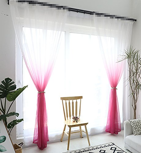 - AliFish 1 Panel Living Room Window Treatment Curtain Gauze Rod Pocket Sheer Curtains Screens Home Decorations Light Filtering Voile for Bedroom/Sliding Glass Door Multicolor W39 x L96 inch