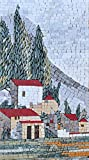 Mozaico - One of a Kind Countryside Marble Mosaic Design Handmade Natural Stones Artwork MS536B