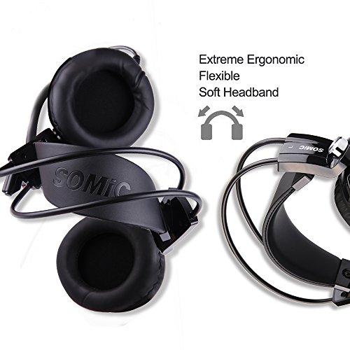 2165da50b42 SOMIC G941 Gaming Headset,7.1 Virtual Surround Sound USB Lightweight Over  Ear Headphone with Mic