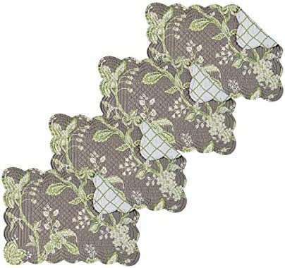 Amazon Com C F Home Set Of 4 Pcs 13x19 Quilted Scallop Placemat Annabelle Home Kitchen