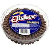 Fisher Milk Chocolate Peanuts, 14-Ounce Tubs (Pack of 6)