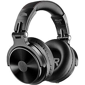 OneOdio Casque Bluetooth 80 Heures de Lecture Casque Stéréo Hi-FI de Haut-Parleur de 50 mm avec Microphone Intégré CVC 8…