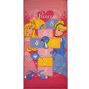 Monbeautapis 15256Disney Princesses Marelle alfombra poliamida 140x 67cm), multicolor