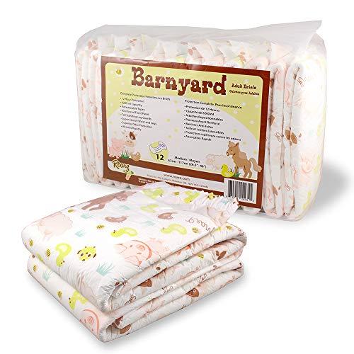 Rearz - Barnyard - Adult Diaper - 12 Pack (Large)