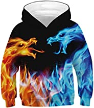 Imbry Boys Girls 3D Printed Hoodie for Kids Animal Hooded Pullover Sweatshirt