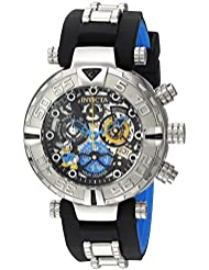 Invicta Mens Disney Limited Edition Quartz Stainless Steel and Silicone Casual Watch, Color:Black (Model: 24509)