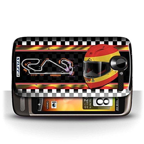 Etui / Coque pour HTC Desire G7 / Espagne/Catalogne conception / Collection de F1 Piste Drapeau