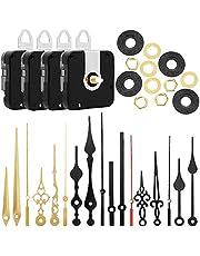munloo 4 sztuki mechanizmu kwarcowego zegara zegarowego, mechanizm cichego kwarcowego, narzędzie do naprawy z 6 różnymi parami, zestaw zamienny (czarny)