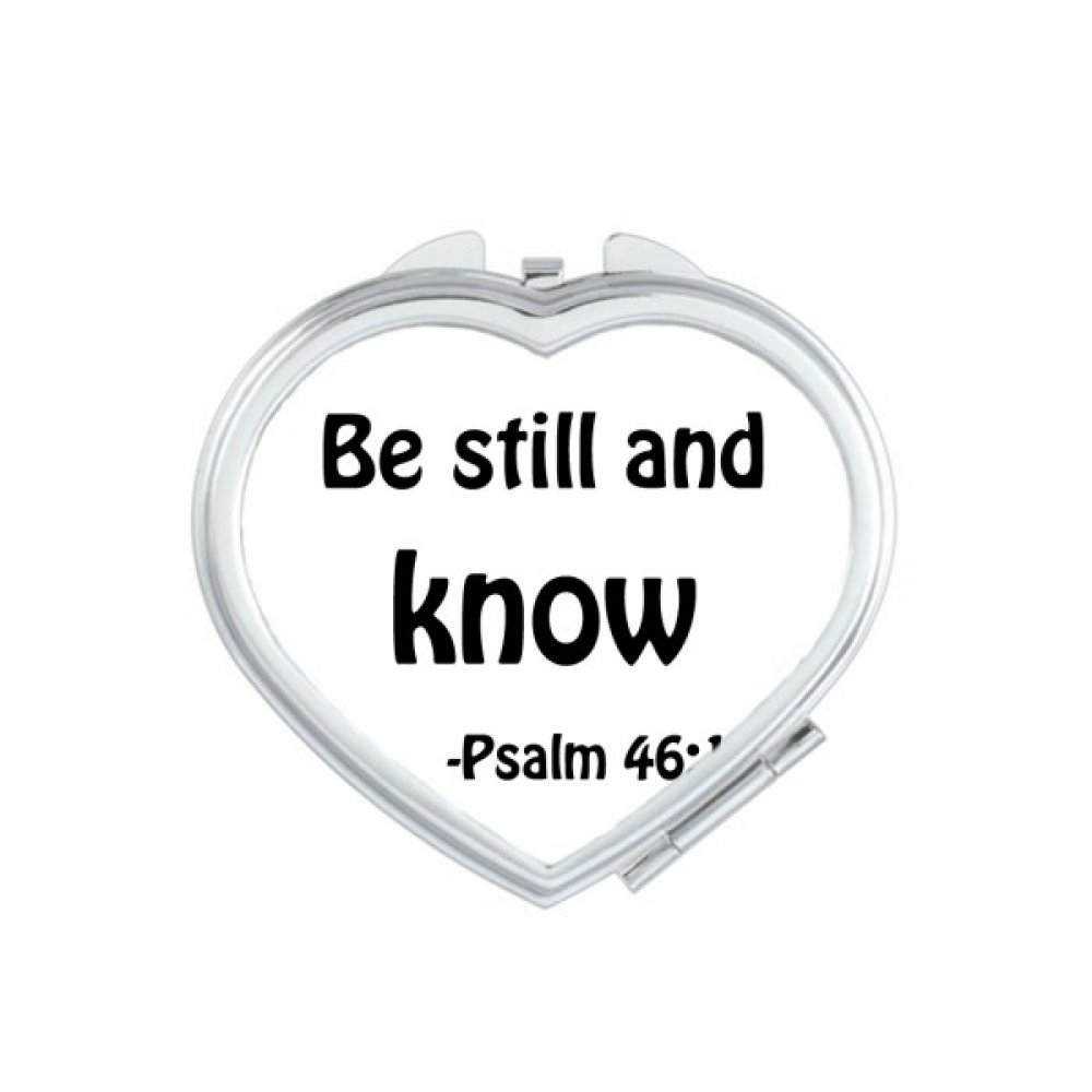 DIYthinker Be Still And Know Christian Quotes Heart Compact Makeup Mirror Portable Cute Hand Pocket Mirrors Gift