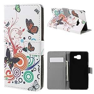 Coque2mobile ® Cartera con carcasa rígida para Samsung Galaxy A5A5102016Envolée de mariposas