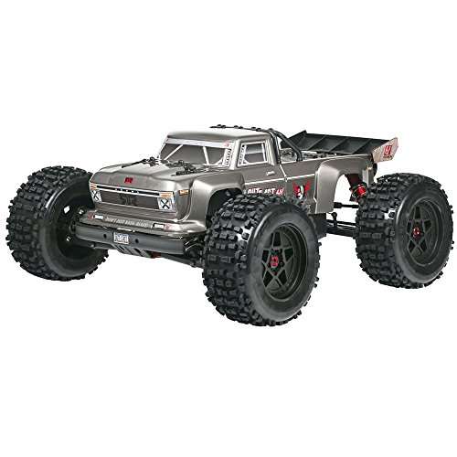 ARRMA Outcast Blx Brushless 4WD Rtr Electric Radio Control RC Stunt Truck (6S Lipo Battery Required), Silver, 1:8 Scale