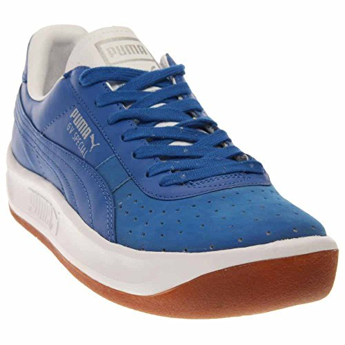 PUMA Men's GV Special Basic Sport Sneaker, Strong Blue/Whisper White, 10 M US (Puma Gv Special White)