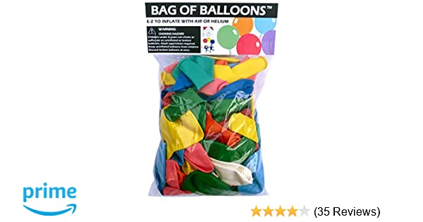 4b39a6b33 Amazon.com  Bag of Balloons - 72 ct. Assorted Color Latex Balloons  Toys    Games