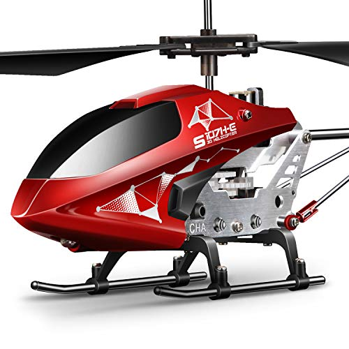 Remote Control Helicopter, SYMA S107H Aircraft with Altitude Hold, One Key take Off/Landing, 3.5 Channel, Gyro Stabilizer and High &Low Speed, LED Light for Indoor to Fly for Kids and Beginners(Red)