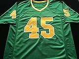 "Rudy Ruettiger""RUDY"" Notre Dame Signed Autograph Green Jersey JSA COA"