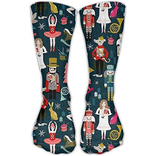 Women Cute Soldier Figurine Nutcracker Printed Knee Socks Girls Personalized Tube Socks Hiking Socks For College,christmas Gifts