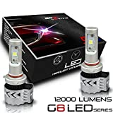 BPS Lighting G8 LED Headlight Bulbs Kit w/Clear Arc Beam 72W 12000LM 6000K - 6500K White Cree XHP50 LED Headlight Conversion for Replacement Halogen Bulb Headlights 2 Yr Warranty - (2pcs/set) (9012/HIR2)