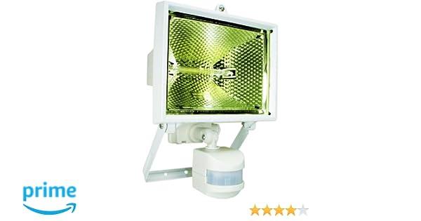 Smartwares ES400W Luz de seguridad, Sensor de movimiento, Halógena, 8850 lm, Blanca: Amazon.es: Hogar