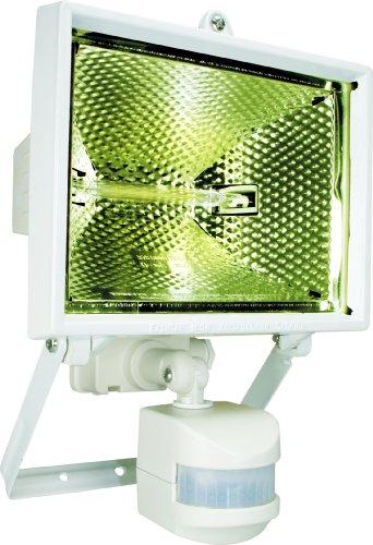 Byron Es400W Halogen Floodlight With Motion Detector - White (400W)