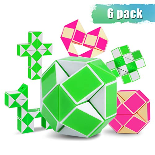 Snake Cube,Large Magic Ruler Set Toys Snake Rubiks Cube Gift for Child Relaxation & Improved Concentration Ideal Gift for Kids & Adults(6 Pack)